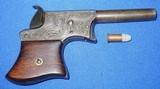 * Antique 1865 FACTORY ENGRAVED REMINGTON VEST POCKET .22 DERRINGER