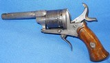 * Antique 1860s CIVIL WAR ERA PINFIRE REVOLVER 7mm DOUBLE ACTION - 9 of 10