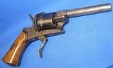 * Antique 1860s CIVIL WAR ERA PINFIRE REVOLVER 7mm DOUBLE ACTION - 3 of 10