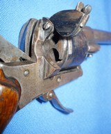 * Antique 1860s CIVIL WAR ERA PINFIRE REVOLVER 7mm DOUBLE ACTION - 4 of 10