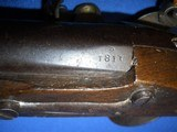 * Antique 1811 FIRST EMPIRE MAUBEUGE FRENCH FLINTLOCK MARTIAL PISTOL - 14 of 19