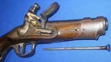 * Antique 1811 FIRST EMPIRE MAUBEUGE FRENCH FLINTLOCK MARTIAL PISTOL - 6 of 19