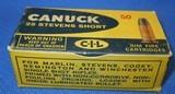 * Vintage 25 STEVENS RF RIMFIRE AMMO CIL CANUCK 50 FULL BOX
