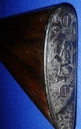 * AntiqueRUSSELL 12 Ga DOUBLE SxS HAMMER SHOTGUN BELGIUM - 6 of 20
