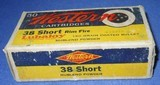 * Vintage WESTERN .38 RIMFIRE RF AMMO FULL BOX 50 NOS - 1 of 6