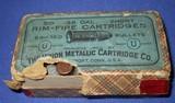 * Antique AMMO .38 RIMFIRE RF SHORT UMC EARLY 2 PC FULL BOX