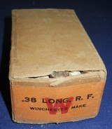 * Antique AMMO .38 RIMFIRE RF LONG WINCHESTER FACTORY SEALED FULL BOX 50 - 2 of 5