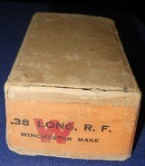 * Antique AMMO .38 RIMFIRE RF LONG WINCHESTER FACTORY SEALED FULL BOX 50 - 1 of 5