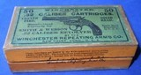 * Antique AMMO WINCHESTER .32 S&W EARLY 2 PART PICTUREBOX FEW SHELLS