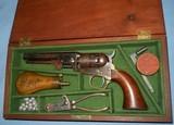 * Antique COLT 1849 PERCUSSION POCKET REVOLVER IN CASE & ACCESSORIES