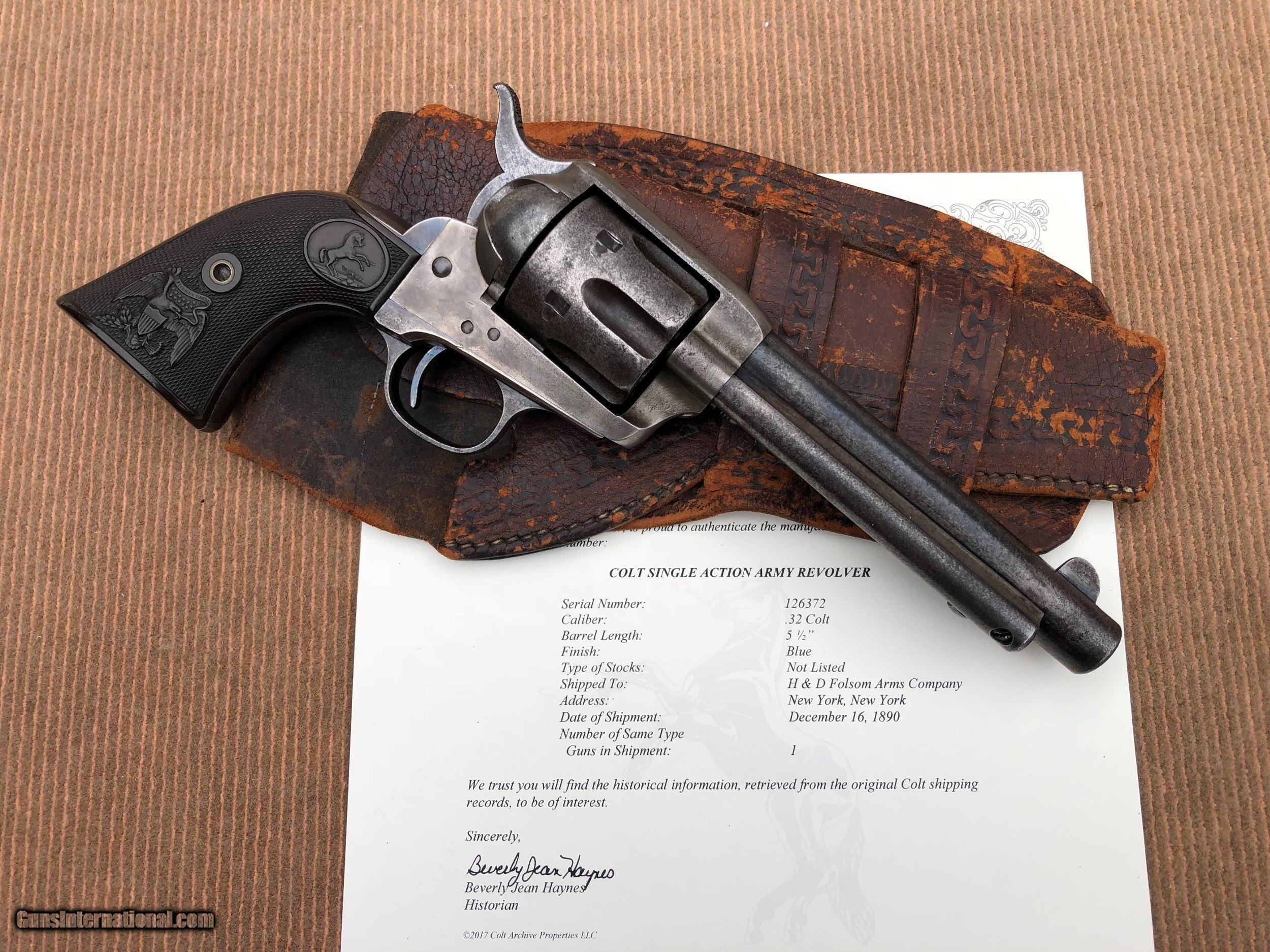 Ultra Rare Antique Colt Single Action Revolver in .32 COLT cal.