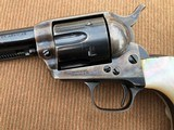 *HIGH CONDITION* Colt Pre-War SAA Revolver .45cal w/RARE Vintage Carved Steer Head Pearl Grips, Holster, and Archive Letter! - 10 of 15