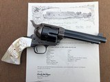 *HIGH CONDITION* Colt Pre-War SAA Revolver .45cal w/RARE Vintage Carved Steer Head Pearl Grips, Holster, and Archive Letter! - 2 of 15