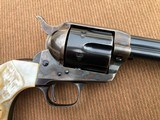 *HIGH CONDITION* Colt Pre-War SAA Revolver .45cal w/RARE Vintage Carved Steer Head Pearl Grips, Holster, and Archive Letter! - 4 of 15