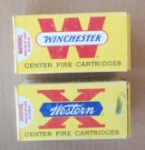 Partial Boxes (2) Winchester 25-20 & Western 25-20