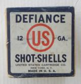 Sealed Two Piece United States Cartridge Co. Defiance 12 gauge box