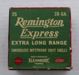 Full Box of Remington 28 gauge Skeet Load Circa 1940's