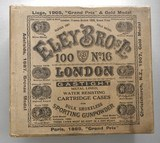 rare eley bros 16 gauge 100 count shot shell box made to order for w w greener