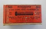 sealed two piece box winchester 9 mm long shot cartridges, 50 cartridges model 36