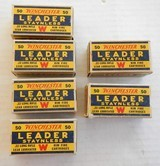 Winchester Leader 6-Full Boxes, circa 1939-1944 22 Long Rifle - 1 of 2