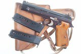 SIG P49 P210, Swiss Military, Early High Polish Rig. 9mmP