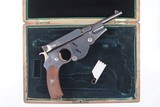 Bergmann M1896 No. 3, Early Production, Cased, Antique. - 4 of 12