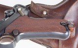 Luger, 1900 Swiss, Military, Wide Trigger, Holster - 9 of 15