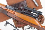 Swiss Bern ZFK 31/55 Sniper Rifle, matching Scope and Can - 14 of 15