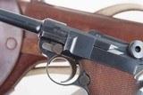 DWM 1900 Swiss Luger, Military, Cross in Sunburst, Holster, 936, I-593 - 4 of 15