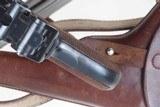 DWM 1900 Swiss Luger, Military, Cross in Sunburst, Holster, 936, I-593 - 10 of 15