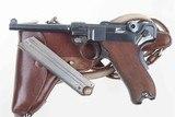 DWM 1900 Swiss Luger, Military, Cross in Sunburst, Holster, 936, I-593 - 1 of 15