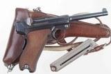 DWM 1900 Swiss Luger, Military, Cross in Sunburst, Holster, 936, I-593 - 2 of 15