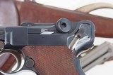 DWM 1900 Swiss Luger, Military, Cross in Sunburst, Holster, 936, I-593 - 3 of 15