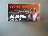 Winchester 44-40 JOHN WAYNE COMMEMORATIVE AMMO 50rds NEW BOX LIMITED - 2 of 2