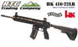Heckler & Koch 416-22 rimfire by Walther AR style .22 long rifle NIB
