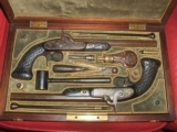 Boxed set of French/Belgium Dueling/Target pistols,Circa 1850