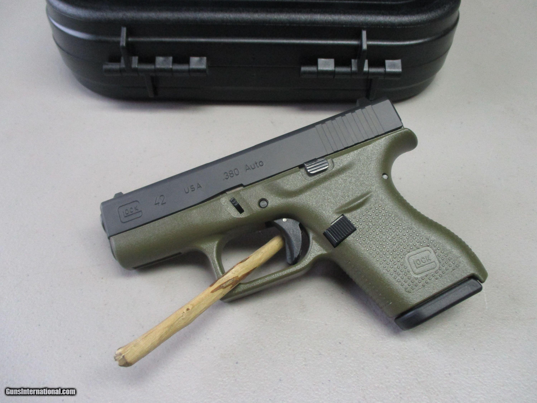 Glock 42 380 ACP Green Cerakote 6+1 Conceal Carry Pistol NIB
