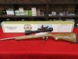 Ruger 10/22 Target .17 Mach 2 conversion w/4-12x40mm scope and box