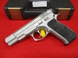 CZ-USA CZ 75B Stainless 9mm Ambi Safety Like New in Box