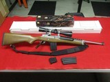 Ruger Mini-14 Stainless Ranch Rifle .223 w/Nikon ProStaff, box, 3 mags - 1 of 14
