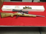 Ruger 10/22 Target .17 Mach 2 conversion w/3-9x40mm scope