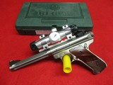 Ruger Mk III Hunter 22 LR S/S pistol w/box, red dot scope