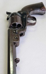 "samuel colt 1851 navy conversion revolver, .38 caliber, 7.5"" barrel, made in 1856 (antique), with u.s. navy anchor mark, wonderful!"