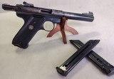 RUGER Mark II Target ~ .22L.R.~ Semi Auto pistol ~ 1989 model ~ 3 Magazines! - 2 of 13