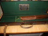 Vintage English Guncase - Leather, Brass Cornered with Henry Atkin Trade Label