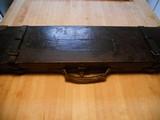 Vintage English Guncase - Leather, Brass Cornered with Henry Atkin Trade Label - 5 of 10