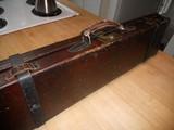 Vintage English Guncase - Leather, Brass Cornered with Henry Atkin Trade Label - 8 of 10
