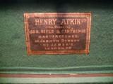 Vintage English Guncase - Leather, Brass Cornered with Henry Atkin Trade Label - 2 of 10