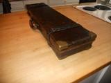 Vintage English Guncase - Leather, Brass Cornered with Henry Atkin Trade Label - 7 of 10