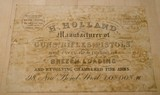 H. Holland Original Paper Trade Label